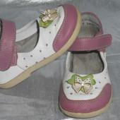Кожаные туфли р.21 (13,5см) открытые туфли