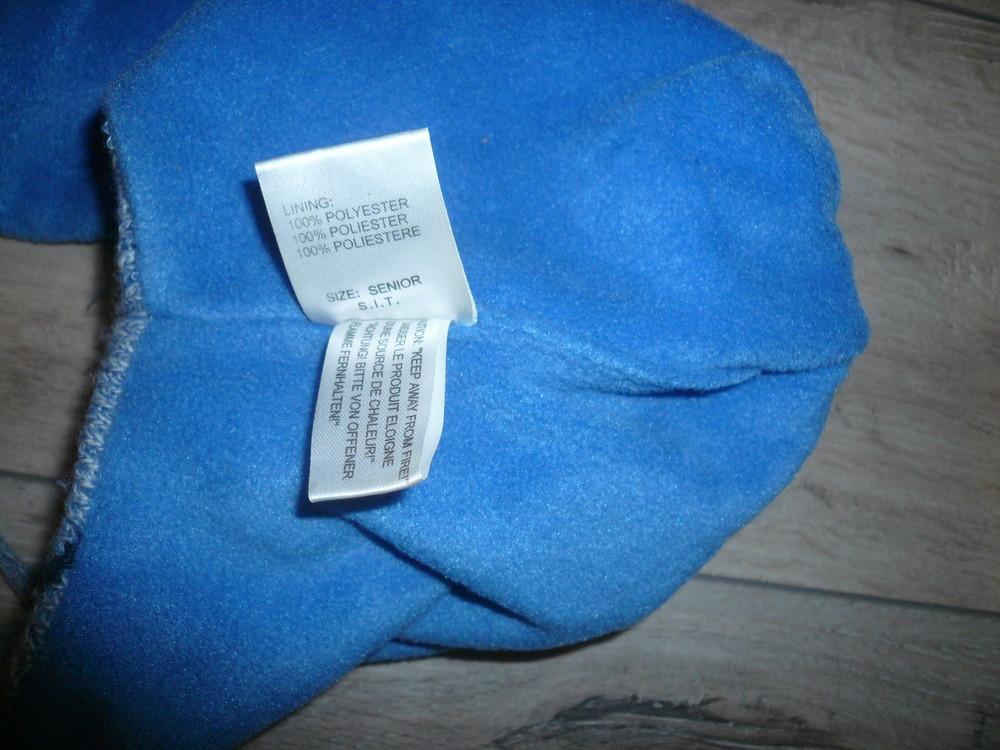 Зимняя шапка на флисе 4-6 лет 50 -52 см помпон завязки фото №4