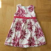 бронь до 22,05 платье нарядное фирменное микровельвет на подкладке на 18-24 мес