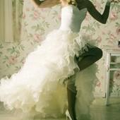 Продам Свадебное платье 2 в 1 со съёмной нижней юбкой. Трансформер.