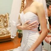 Эксклюзивное свадебное платье на рост 180 см