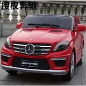 Видео ! Детский электромобиль Mersedes Benz ML-63 (черный,белый,красный))