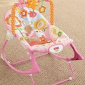 Fisher Price   Вибрируещее кресло +стульчик для первых прикормов.