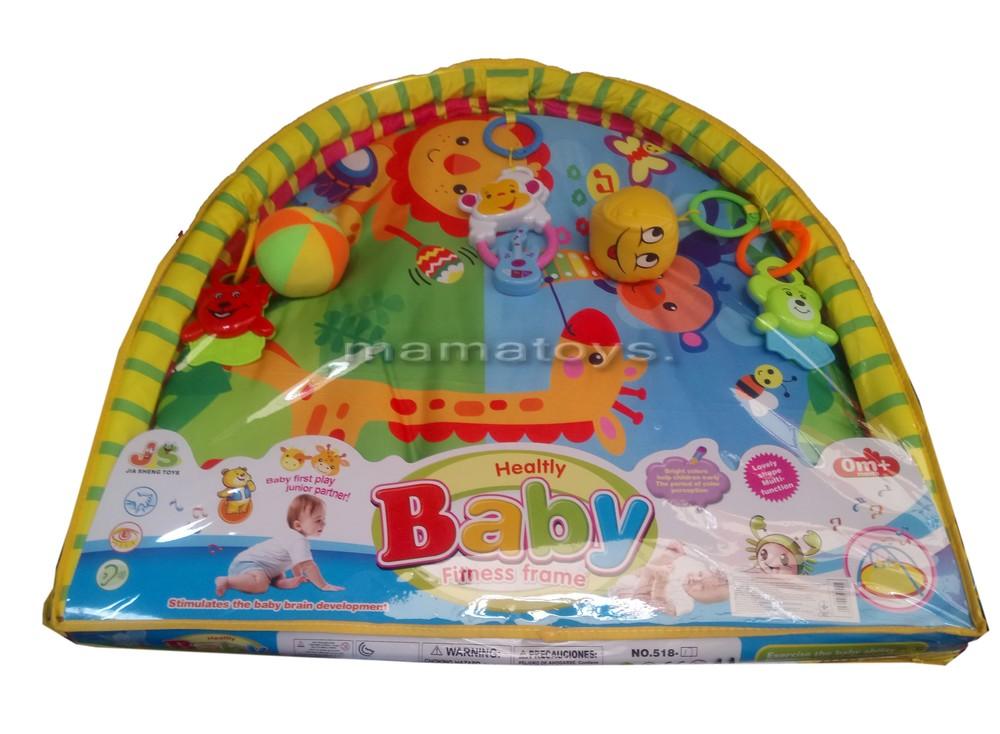 Коврик для малышей 518-17, с мягкими и пластм. погремушками 80х64 см, в сумке 61х56х55,4 см фото №2
