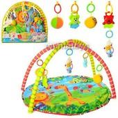 Коврик для малышей 518-17, с мягкими и пластм. погремушками 80х64 см, в сумке 61х56х55,4 см