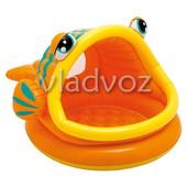 Детский надувной игровой бассейн рыбка intex 57109 ремкомплект в подарок