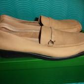 Фирменные George (Англия) кожаные туфли мокасины на наш полномерный 39 размер