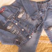 Продам джинсовый костюм на 2-3 годика. Состояние нового