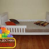 Кровать односпальная из чистого дервева