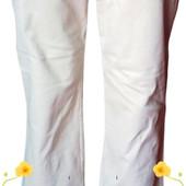 Белые женские вельветовые брюки, М/L Джинсы.