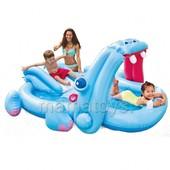Детский игровой центр надувной интекс 57150 Гиппопотам. 221х188х86 см