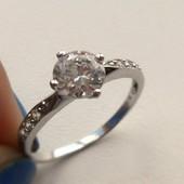 Семь цирконов- семь цветов радуги! кольцо серебро 925, класс камней ААА