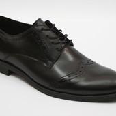 Кожаные мужские туфли 4521№130