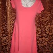 Фирменное New Look (Англия) летнее коралловое платье на наш 44-46 размер