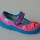Waldi арт.Алина189-509 розово-голубой. бабочка Тапочки для девочек.