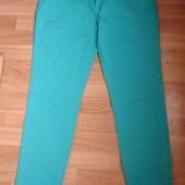Фирменные Denim новые бирюзовые джинсы леггинсы на наш 48-50 размер