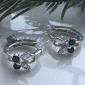 Серьги серебряные сережки Весна