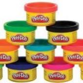 Распродажа - Набор пластилина Play Doh для праздника из 10 мини-баночек в тубусе от Hasbro