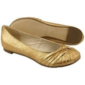 Фирменные золотые балетки Польша