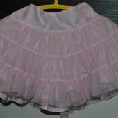 9 - 12 м Юбка пачка для девочки модницы очень нежная и красивая нарядная
