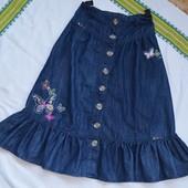 Красивая длинная юбка Некст для девочки 8 9 лет без дефектов