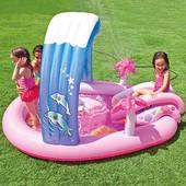 Детский водный игровой центр Hello Kitty Intex с фонтанчиком: 211х163х130 см