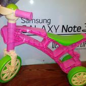 Роллоцикл 3 колеса Технок 3220 ролоцикл беговел розовый с салатовым