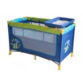 Манеж - кровать Nanny 2 Layers Plus Dinos Blue