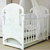 Детская кроватка Верес Соня ЛД8 со стразами (маятник)