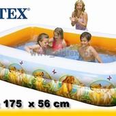 Детский надувной бассейн Король Лев Intex: 262х175х56см (Intex 57492)