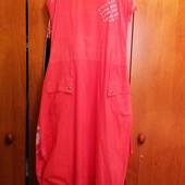 Летнее платье цвета коралл