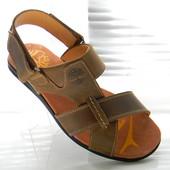Кожаные мужские сандалии Timderland model   T2