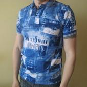 Продам новую  мужскую футболку синего цвета