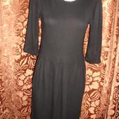 Фирменное стильное черное платье 46 размер