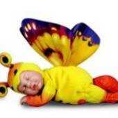 Кукла-бабочка, Божья коровка солнечная бабочка Anne Geddes  22,5 см  от  Unimax