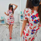 Платье летнее в расцветках.Размеры S и М. {
