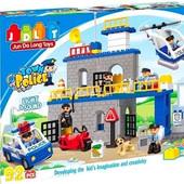Конструктор Jdlt 5136 Полиция, крупноблочный. Аналог Лего