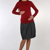 Теплая юбка с начесом для беременных Teilor