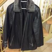 Мужская Кожаная куртка на рост 170