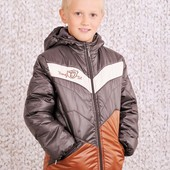 Куртка демисезонная для мальчика (коричневый) 03-00456-1