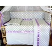 Шикарный, нежный комплект в кроватку для новорожденных+конверт для новорожденного