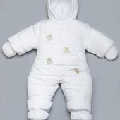 Детский зимний комбинезон (белый) 03-00411-0