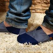 Эспадрильи мужские (серый+синий)
