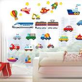 Интерьерные наклейки на стену. Транспорт.