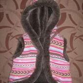 Тепла безрукавка (жилетка) Matalan на 1 - 1.5 роки ріст 80 - 86 см