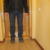 Легкая теплая х\\б курточка черного цвета с отделкой Next. Англия. L.