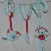 Игрушка змейка на коляску и кроватку пружинка спиралька растяжка яркая и весёлая