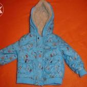 Фирменная TU демисезонная стильная куртка на 6-12 месяцев
