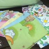 Ситцевые и байковые пеленки разные цвета в ассортименте