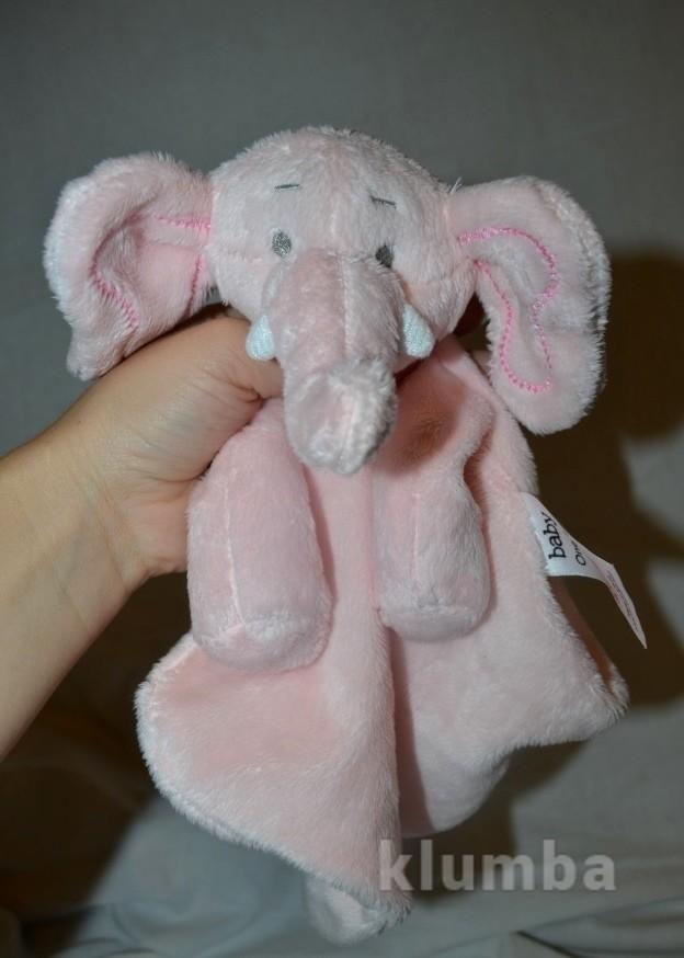 Нежный слоник слон Впитывающий платочек полотеничко с развивалками кукольный театр фото №1